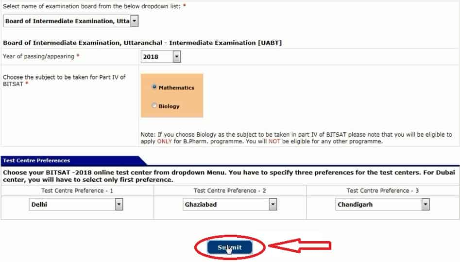 BITSAT 2018 Application Process