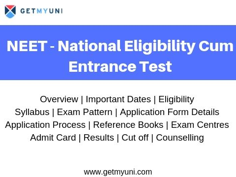 NEET 2020 - Exam Dates, Syllabus, Exam Pattern, Admit Card, Result