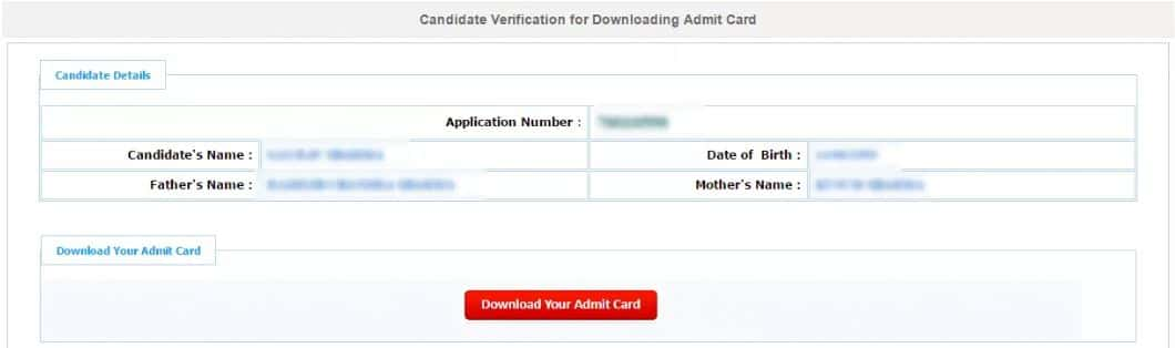 JEE Main Admit card download