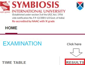Click on Results For SET Exam Result