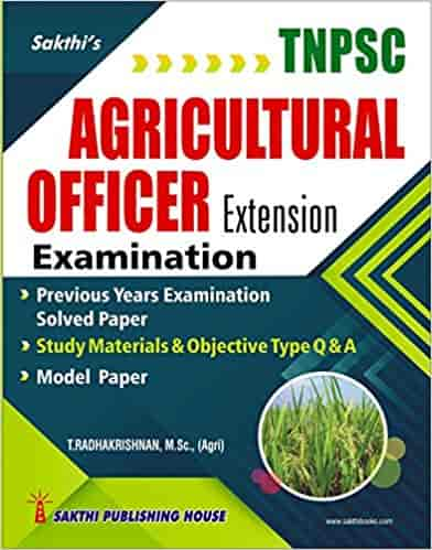 TNPSC Reference Books Agricultural Officer Extension Examination