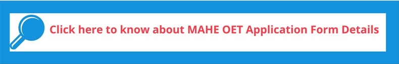 MAHE OET Application form details