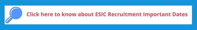 ESIC Recruitment Exam dates