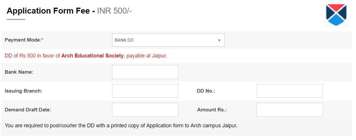AIEED Application Form Payment Part