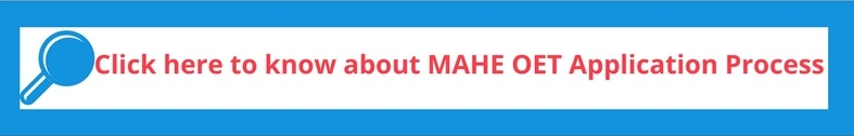 MAHE OET Application process