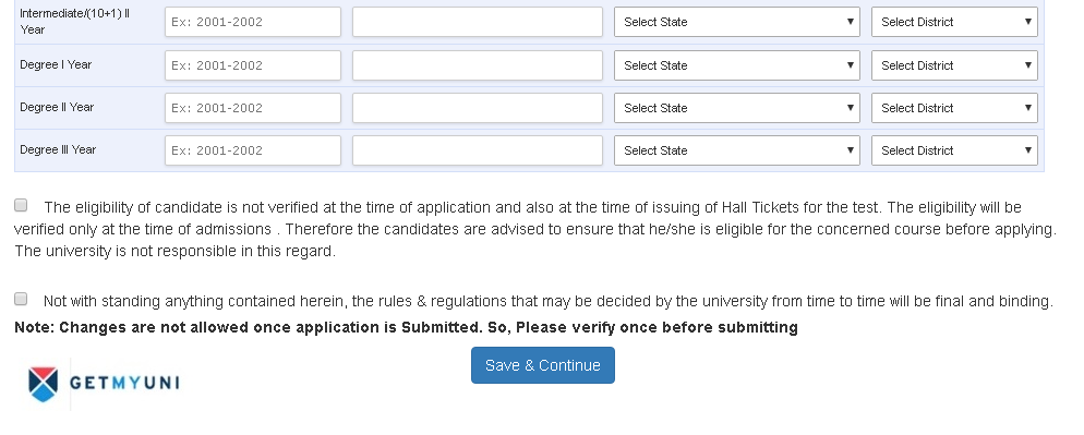 OUCET 2018 Application Process