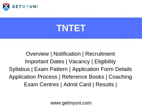 TNTET - Dates, Application, Admit Card, Result