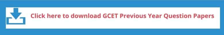 GCET/ GOA CET Previous Year Question Paper
