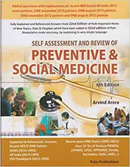 Self Assessment and Review of Preventive & Social Medicine by Arvind Arora