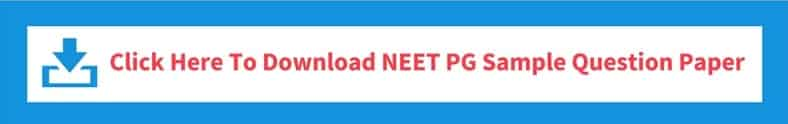 NEET PG Mock/ Sample Test Paper
