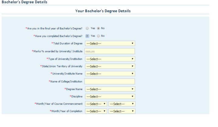 CAT 2020 Bachelor's Degree