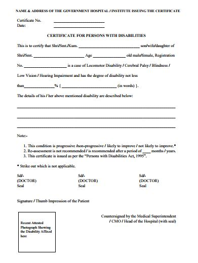 CAT 2020 PWD certificate