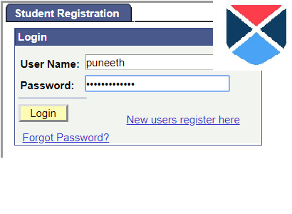 login with new credentials