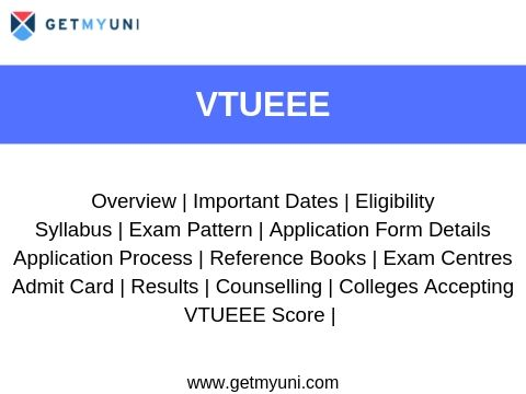 VTUEEE - Dates, Registration, Admit Card and Results