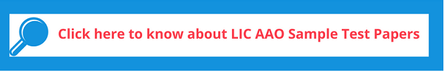 LIC AAO 2018 Sample Test Papers