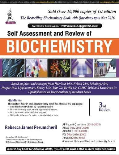 Self-Assessment and Review of Biochemistry by Rebecca James Perumcheril