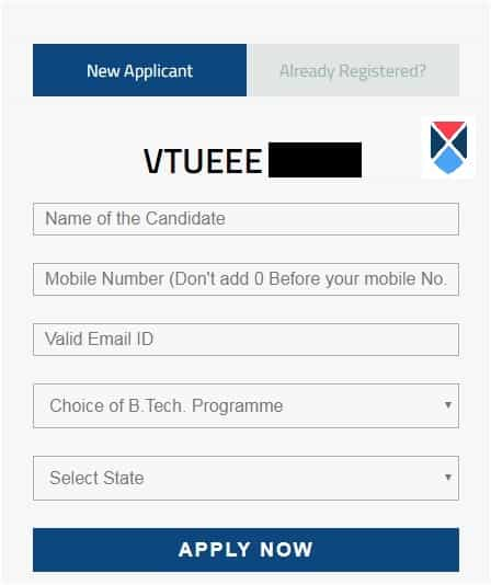 VTUEEE 2018 Application Form