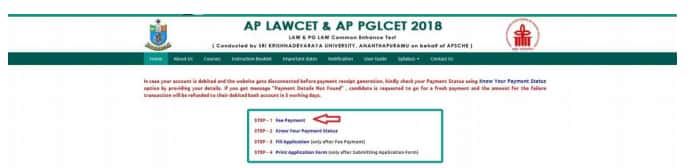 AP LAWCET 2019 application from