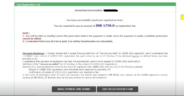 UCEED 2022 Application Form