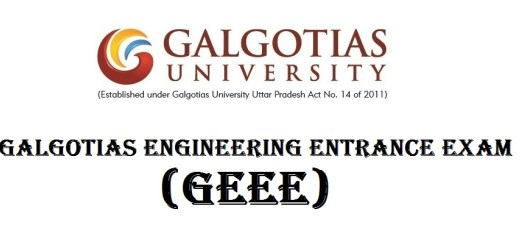 Galgotias Engineering Entrance Examination [GEEE]