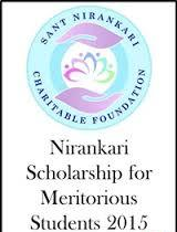 Nirankari Scholarship for Meritorious Students 2015  ( All India )