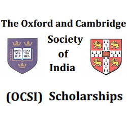 The Oxford and Cambridge society of India scholarship (OCSI)